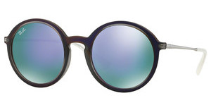 Ray-Ban RB4222 61684V GREY MIRROR VIOLETSHOT VIOLET RUBBER