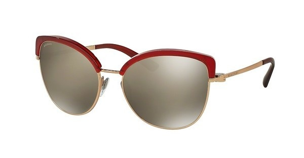 Bvlgari BV6082 376/5A LIGHT BROWN MIRROR GOLDPINK GOLD/RED