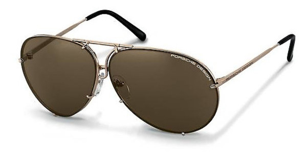 Porsche Design P8478 A brown + extra lens light blue, s.m.light gold