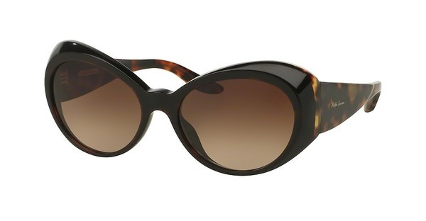 Ralph Lauren RL8139 558713 GRADIENT BROWNTOP STRIPED HAVANA ON BLACK