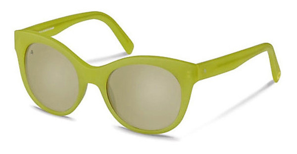 Rocco by Rodenstock RR315 C titanium mirror - 66%lime green