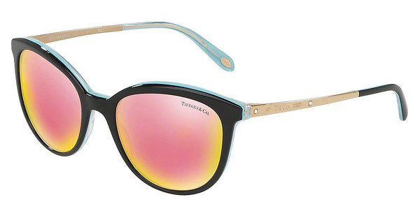 Tiffany TF4117B 81934Z GREY MIRROR YELLOW ROSEBLACK/STRIPED BLUE