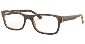 Ray-Ban RX5268 5817 TRASP LIGHT BROWN ON YELLOW
