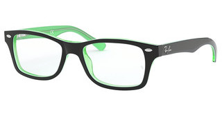 Ray-Ban Junior RY1531 3764 GREEN TRASPARENT ON TOP BLACK