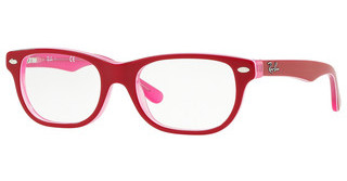 Ray-Ban Junior RY1555 3761 TRASPARENT PINK ON TOP BORDEAU