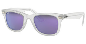 Ray-Ban RB4340 646/1M GREY MIRROR PURPLEMATTE TRASPARENT