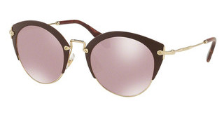 Miu Miu MU 53RS TEP100 PINK GLITTER MIRR INT BLUEMATTE BROWN/PALE GOLD