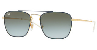 Ray-Ban RB3588 9062I7 LIGHT BLUE GRADIENT GREENGOLD TOP ON BLUE