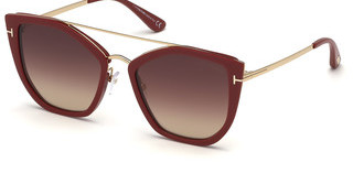 Tom Ford FT0648 75G braun verspiegeltfuchsia glanz