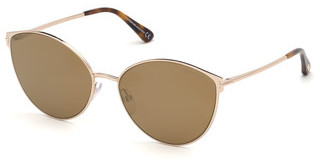 Tom Ford FT0654 28G braun verspiegeltrosé