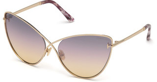 Tom Ford FT0786 28C grau verspiegeltrosé