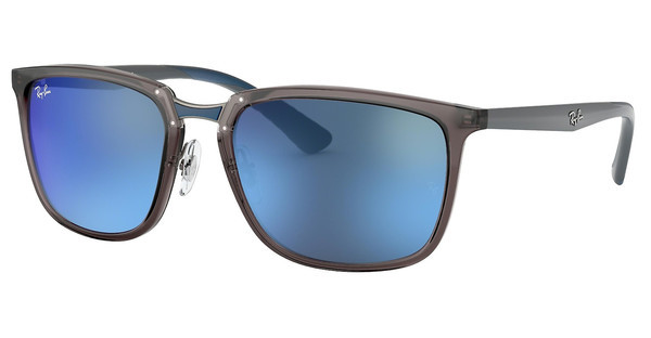 Ray-Ban   RB4303 636355 BLUE MIRROR BLUTRASPARENT GREY